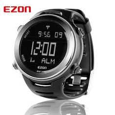 EZON Radio Wave Calibrate Time Digital Men Women Sport Watch Casual Running Swimming Waterproof 50M Wristwatch Montre Homme 2016
