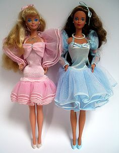 "my ""perfume pretty"" barbies (1987). i can still remember the smell of the perfume."