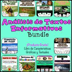 Análisis de Textos Informativos (Bundle) es una colección de los 10 productos más populares de mi Tienda, los cuales tratan acerca del análisis y comprensión de textos informativos. Este recurso es perfecto para preparar a tus estudiantes para las pruebas estandarizadas.