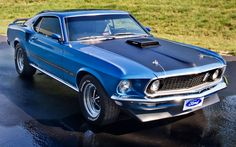 1969 muscle cars pictures | Ford, Mustang, Mach 1, 1969, Blue, Muscle car wallpapers