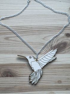 Wooden Hummingbird necklace Hummingbird Necklace, Hummingbirds, Arrow Necklace, Necklaces, Jewelry, Jewlery, Bijoux, Chain, Schmuck