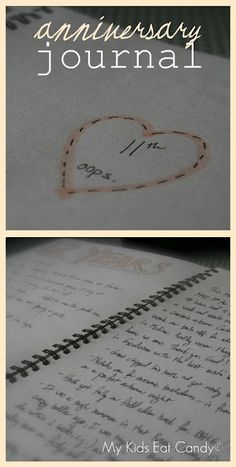 This is an awesome idea to do and then give to your partner on your 25th anniversary! (Anniversary Journal -- record how you spend each anniversary, things that happened in that year, plans for the future, etc. (buy one on Etsy or make your own) It's fun see how things have changed through the years. )