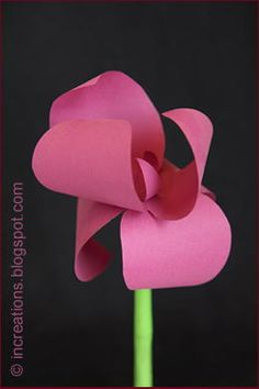 Pink Paper Iris | This paper flower comes with a free printable template.