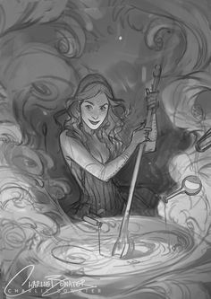 witch by Charlie Bowater Drawing Sketches, Art Drawings, Drawing Stuff, Drawing Tips, Drawing Reference, Pencil Drawings, Sketching, Character Art, Character Design