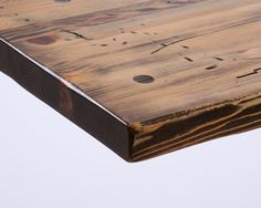 Distressed Pine Table Top.  Reclaimed wood tables.  Restaurant table tops. www.mntimeworn.com