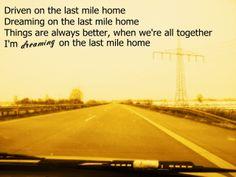 Kings of Leon - Last mile home lyrics