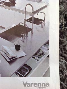 Sunken sink in stainless steel