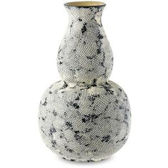 Snakeskin Vessel, Large (£165) ❤ liked on Polyvore featuring home, home decor, black home decor and handmade home decor