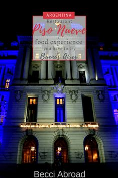 Enjoy an unique experience of Argentine food at restaurant Piso Nueve on the floor of the Cultural Center Kirchner (CCK) in Buenos Aires - Becci Abroad Travel Info, Budget Travel, Travel Articles, Argentina Food, Famous Landmarks, South America Travel, Group Travel, Cultural Center, Buenos Aires