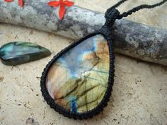 Labradorite Necklace/Northern Lights/Labradorite by GaiasGiftsToUs