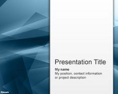Free Blue Abstraction PowerPoint Template | Free Powerpoint Templates