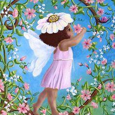 African American Fairy, fairy decor, fairy pictures, pink fairy, fairy art, 8x10 print