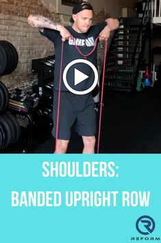 Banded Upright Row  See how we integrate these into our programs at reformedathletes.com/reform-xclusive Shoulder Exercises, Shoulder Workout, The Row, Band, Sports, Hs Sports, Sash, Shoulder Training, Ribbon