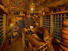 If this was under my house I wouldn't see my husband for wee.- If this was under my house I wouldn't see my husband for weeks. If this was under my house I wouldn't see my husband for weeks. Caves, Wine Cellar Basement, Wine Dispenser, Home Wine Cellars, Wine Cellar Design, Italian Wine, Tasting Room, Tasting Table, Wine Storage