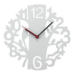 Relógio Parede Passarinho na Árvore Branco