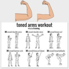 shoulder press shoulder raises curl hummer push down arm dumbbells kickback best workout for arms Fitness Studio Training, Fitness Pal, Fitness Tips, Cardio Fitness, Fitness Weightloss, Body Workout At Home, At Home Workout Plan, At Home Workouts, Bra Fat Workout