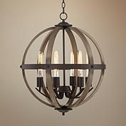 Wood, Dining - Living Room Chandeliers | Lamps Plus