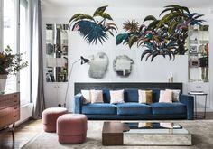 Design et cool, l'appartement parisien de Julie Revuz et Adrien Gloaguen a tout bon ! Visite privée en 8 bonnes idées....