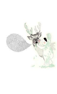 Lauradi Francesco. schattige illustratie met dunne lijnen, patronen en lichte kleuren.