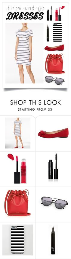 """""""Throw-And-Go Dresses Contest Entry"""" by polyvorequeen2754 ❤ liked on Polyvore featuring Maison Jules, Jessica Simpson, Maybelline, Bobbi Brown Cosmetics and Mansur Gavriel"""