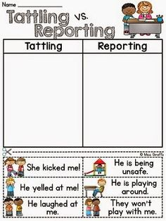 Miss Giraffe's Class: How to Tackle Tattling in the Classroom