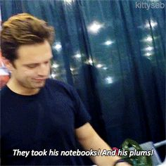 I just love how protective Seb is of Bucky.  It's one of the cutest things ever