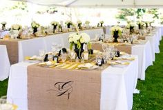 black and golden yellow vintage place settings