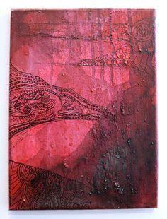 Alison Waru Kura Gallery Maori Art Design New Zealand Painting Nga Whenua Toto II Acrylic on Canvas