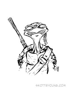 #DailySketch TMNT Donatello. Original sketch available in my shop http://skottieyoungstore.bigcartel.com