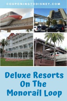 Deluxe Resorts On The Monorail Loop Walt Disney World Vacations, Disney Trips, Disney World Transportation, Gasparilla Island, Polynesian Village Resort, Disney World Planning, Disney World Tips And Tricks, Contemporary, Disney Travel