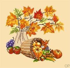 Récolte d'automne  free chart cross stitch