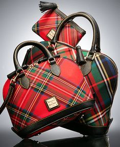 Dooney and Bourke tartan handbags Fashion Handbags, Purses And Handbags, Pink Handbags, Large Handbags, Tote Handbags, Tweed, Tartan Fashion, Burberry Women, Crossbody Bag