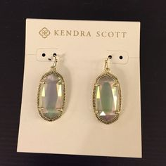 Kendra Scott Dani earrings iridescent slate Looking to trade/buy for the Dani earrings in light blue cats eyes :) let me know if you have a pair! Kendra Scott Jewelry Earrings