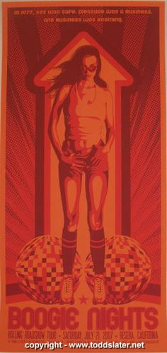 """2007 """"Boogie Nights"""" - Silkscreen Movie Poster by Todd Slater"""