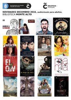 Novos audiovisuais para adultos no mes de decembro da biblioteca Monte Alto.