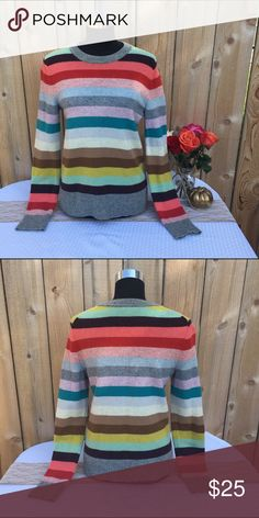 Selling this Multi-Colored Striped Wool Blend Sweater on Poshmark! My username is: revolvingrack. #shopmycloset #poshmark #fashion #shopping #style #forsale #GAP #Sweaters