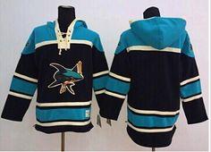 San Jose Sharks Blank Black Sawyer Hooded Sweatshirt Stitched NHL Jersey