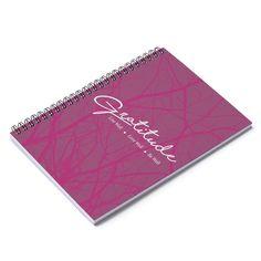 Gratitude Spiral Notebook - Ruled Line - Burgundy - Spiral Notebook