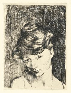 Pablo Picasso Tête de femme, 1905 etching printed in black ink on wove paper Pablo Picasso Drawings, Picasso Prints, Kunst Picasso, Picasso Sketches, Picasso Art, Picasso Paintings, Art Drawings, Picasso Images, Henri Rousseau