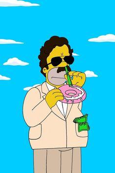 Homer Simpson as Pablo Escobar Like us on Facebook.