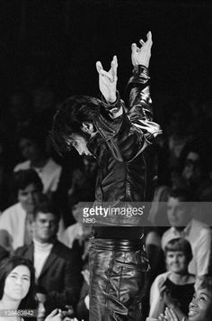 ELVIS: '68 COMEBACK SPECIAL -- Aired 12/3/68 -- Pictured: Elvis Presley during a performance at NBC Studios in Burbank, CA (Photo by Gary Null/NBC/NBCU Photo Bank via Getty Images) Credit: NBC