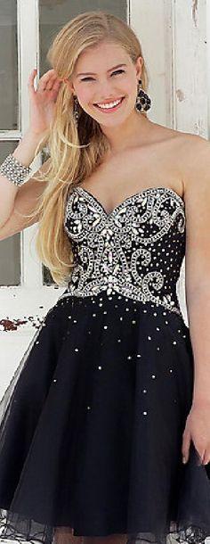 Embellished Strapless Sleeveless Short Baby doll Natural Prom Dresses Sale klkdresses16542xdf #longdress #promdress