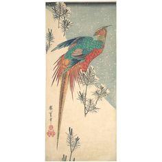 Utagawa Hiroshige: Pheasant and Young Pines in Snow