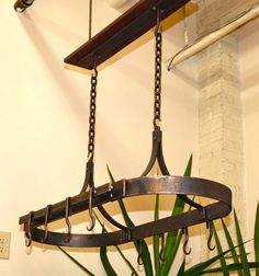 $185 Hanging Pot Rack - Hand Forged by a Blacksmith