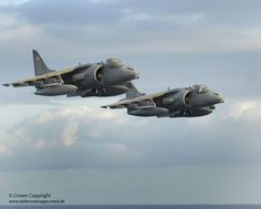 ..._Pair of Harriers During Flypast at Sea