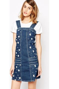 half jean dresses - Google Search
