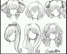 Fantasting Drawing Hairstyles For Characters Ideas. Amazing Drawing Hairstyles For Characters Ideas. Hair Reference, Drawing Reference Poses, Drawing Skills, Drawing Techniques, Manga Hair, Anime Hair, Amazing Drawings, Cute Drawings, Girl Hair Drawing