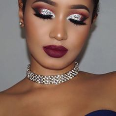 Me: Just do something soft and romantic for Valentine's Day... Also me: Grab the glitter B ✨and that vampy lipstick while ur at it. ----------------------------------- Loving my choker and earrings from @mod.project Thank you for the beautiful pieces @mod.project ✨✨✨ ------------------------------------ @anastasiabeverlyhills Cream contour kit in medium @meltcosmetics Dark Matter Stack (all shades) Dark Room Lipstick @sugarpill Love+ eyeshadow @flutterlashesinc S...