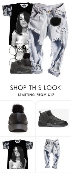 """""""Untitled #181"""" by daijahhill25 ❤ liked on Polyvore featuring NIKE and Michael Kors"""