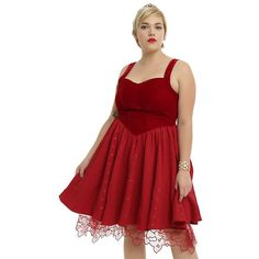 Disney Alice Through The Looking Glass Red Queen Heart Dress Plus Size... ($89) via Polyvore featuring dresses, plus size dresses, red dress, red corset dress, special occasion dresses and women plus size dresses